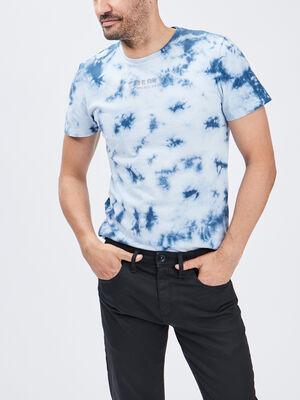 T shirt Liberto bleu homme