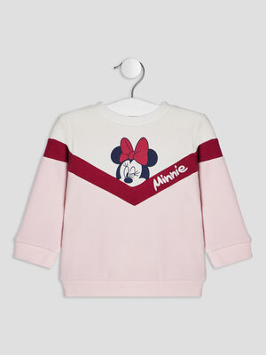 Pull manches longues Minnie multicolore bebef