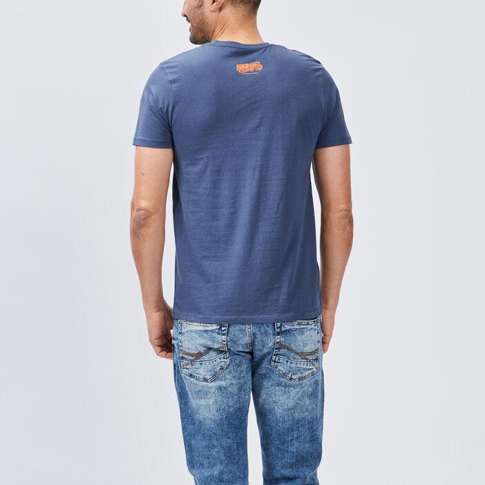 T-shirt manches courtes Naruto homme bleu marine