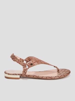 Sandales plates Mosquitos marron femme