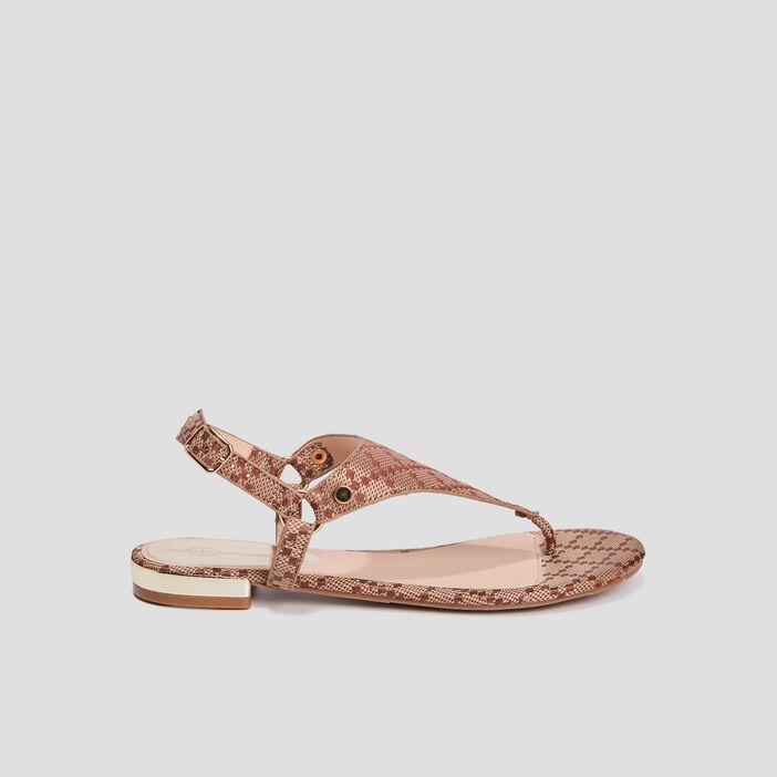 Sandales plates Mosquitos femme marron