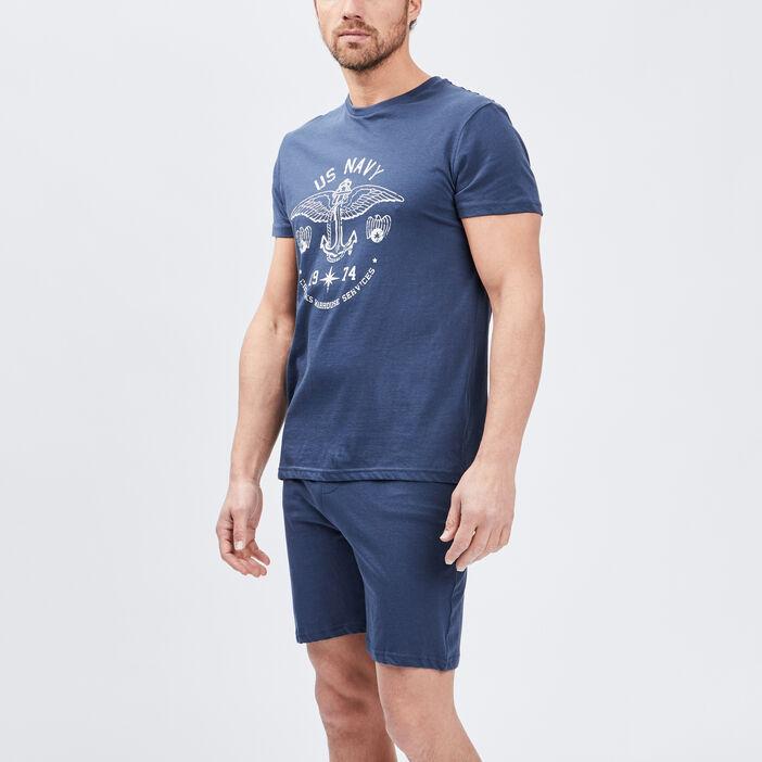 Pyjama 2 pièces Creeks homme bleu marine