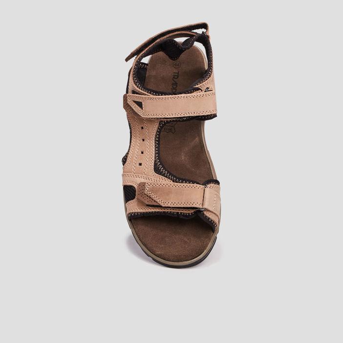 Sandales en cuir Trappeur homme beige