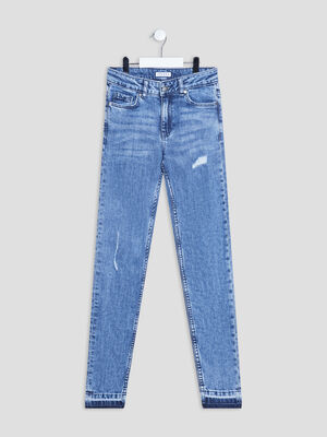 Jeans skinny taille ajustable Creeks denim double stone fille
