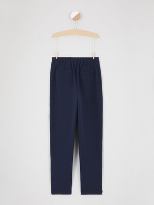 Pantalon de jogging a bandes bleu marine fille
