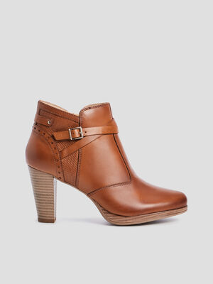 Bottines avec brides marron femme