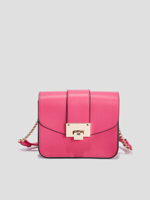 Sac besace rectangulaire rose femme