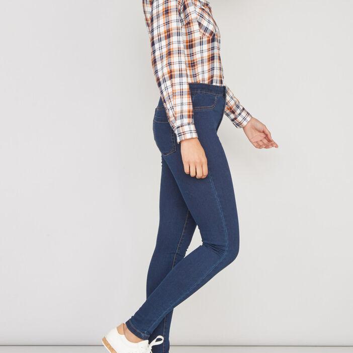 Jean skinny taille haute femme denim brut