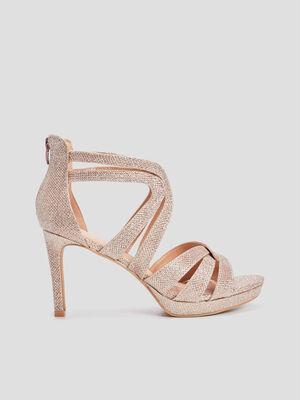 Sandales a talons aiguilles rose femme