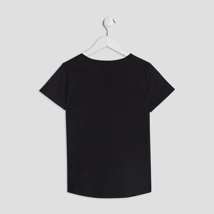 T-shirt manches courtes fille noir