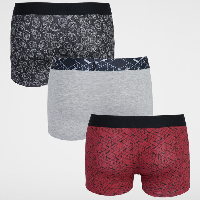 Lot de 3 boxers homme rouge