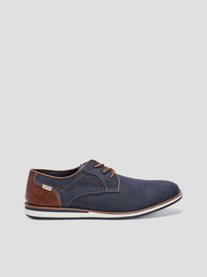 Derbies plates Creeks bleu homme