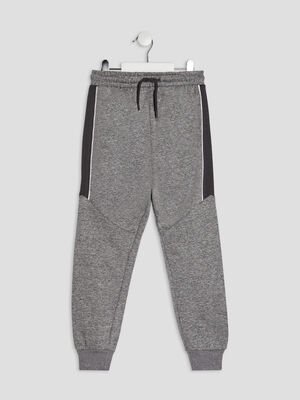Jogging a taille elastiquee gris garcon