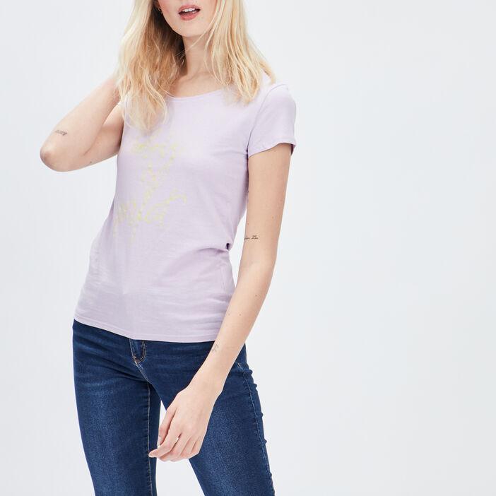 T-shirt manches courtes femme parme