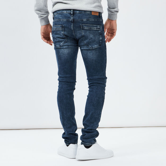 Jeans slim Creeks homme denim blue black