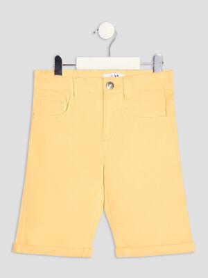 Bermuda straight jaune moutarde garcon