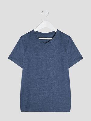 T shirt manches courtes bleu garcon