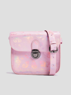 Sac besace a bandouliere rose fille
