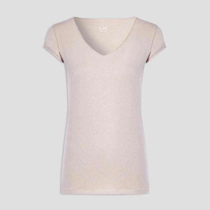 T-shirt manches courtes femme rose clair