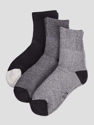 Lot 3 paires chaussettes gris garcon