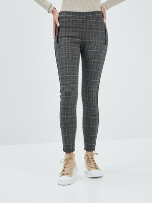 Pantalon legging gris fonce femme