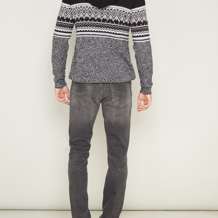 Jeans straight Creeks homme gris