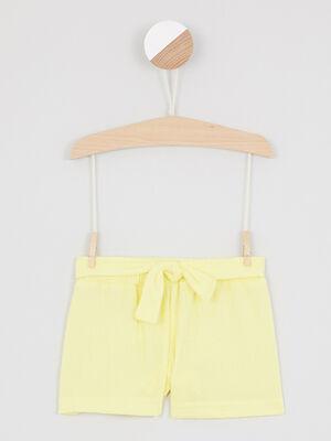 Bermuda short jaune fille