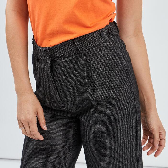 Pantalon large à pinces femme gris
