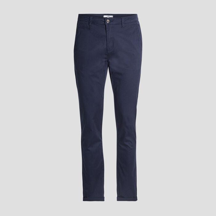 Pantalon straight homme bleu marine