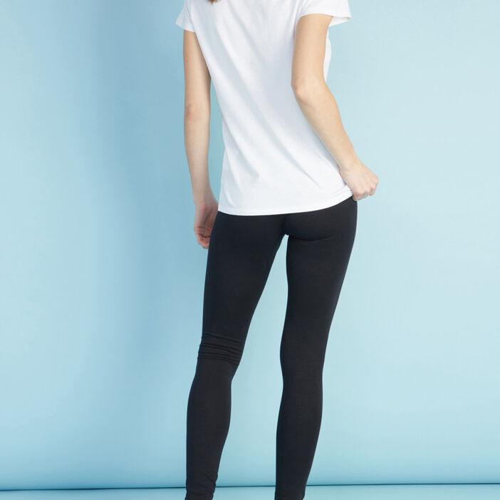 Legging long uni femme noir