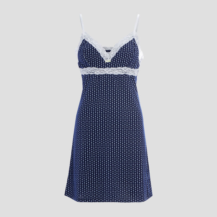 Nuisette à bretelles femme bleu marine