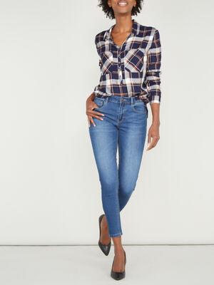 Jean skinny extensible 78 denim brut femme