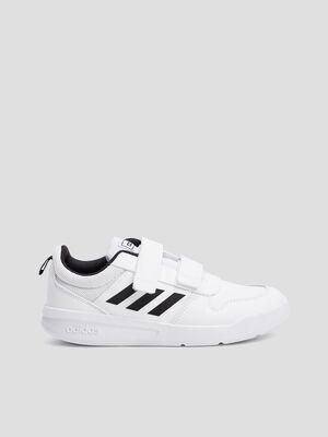 Baskets running Adidas blanc garcon