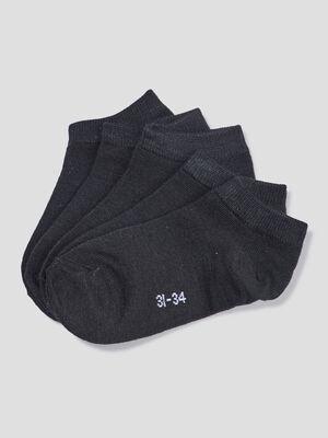 Lot 5 paires socquettes noir garcon