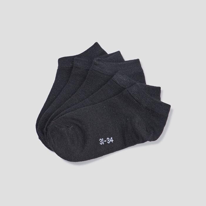 Lot 5 paires socquettes garçon noir