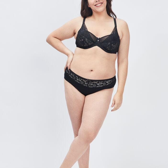 Culotte femme grande taille noir