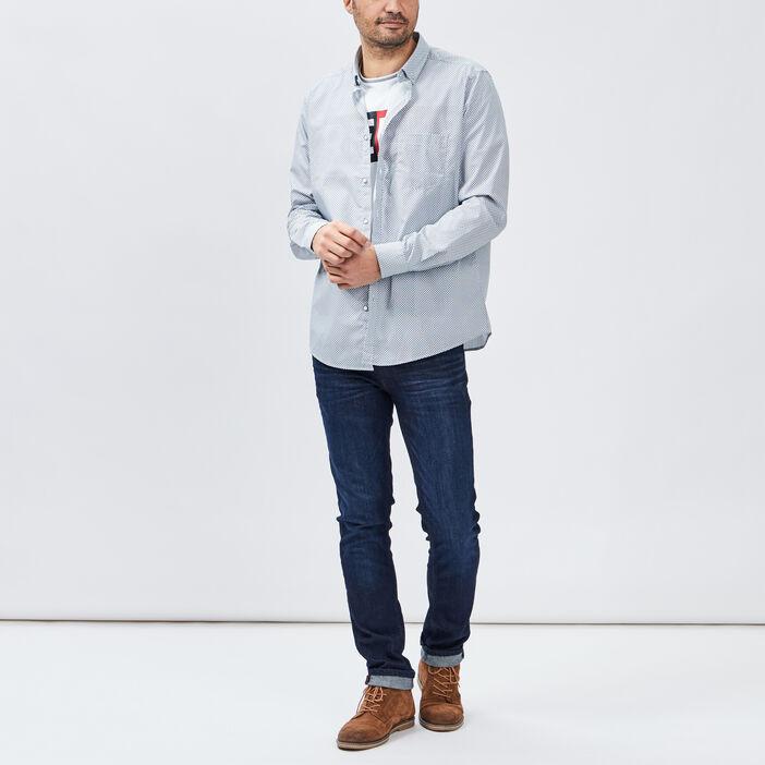 Chemise manches longues homme ecru