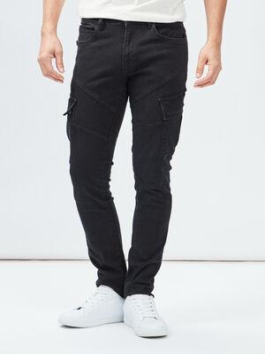 Jeans slim Liberto noir homme