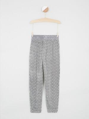 Pantalon ecru fille