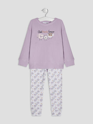 Ensemble pyjama 2 pieces violet fille