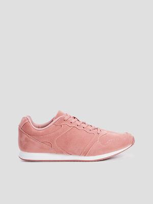 Baskets running rose femme