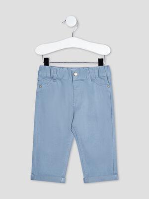 Pantalon droit taille ajustable bleu bebeg