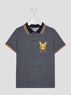 Polo manches courtes Pokemon bleu marine garcon