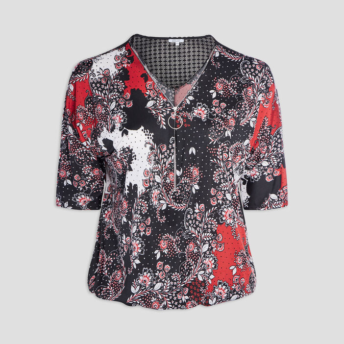 Blouse grande taille femme grande taille rouge