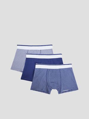 Lot 3 boxers bleu marine homme