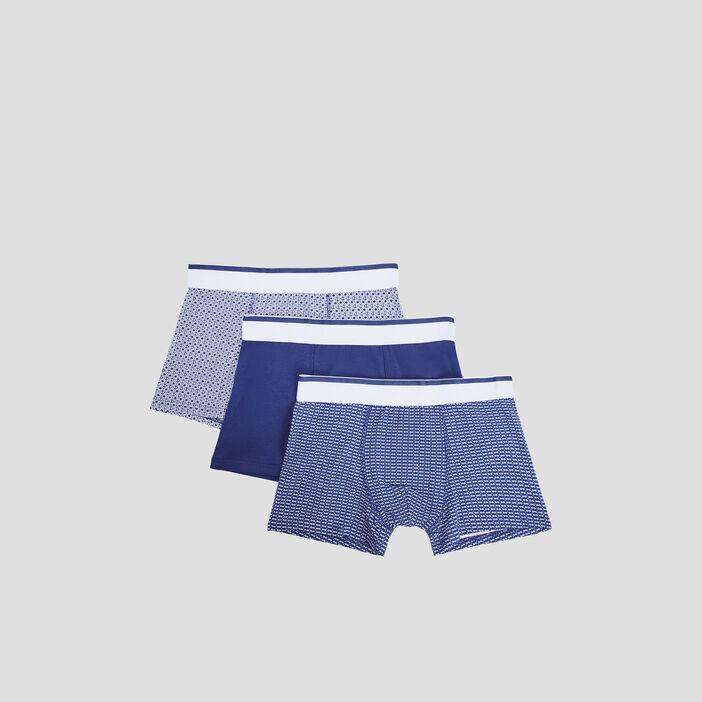 Lot 3 boxers homme bleu marine