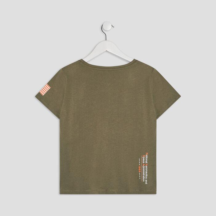 T-shirt manches courtes NASA fille vert kaki