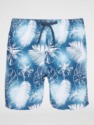 Bermuda de bain imprime tropical multicolore homme