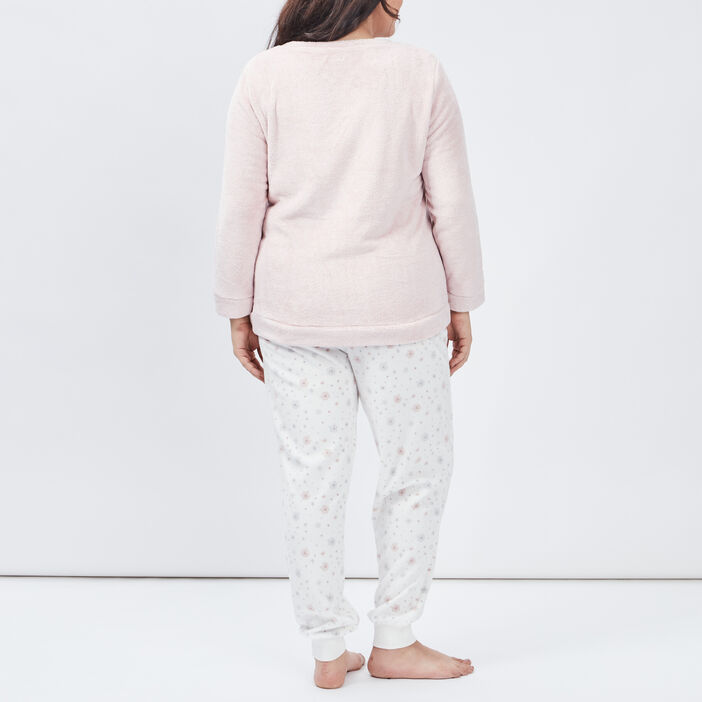 Pyjama femme grande taille rose