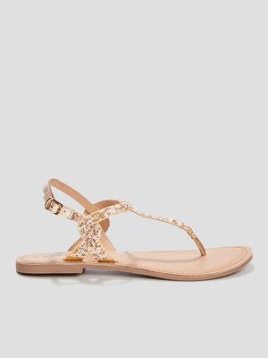 Sandales a perles Creeks couleur or femme